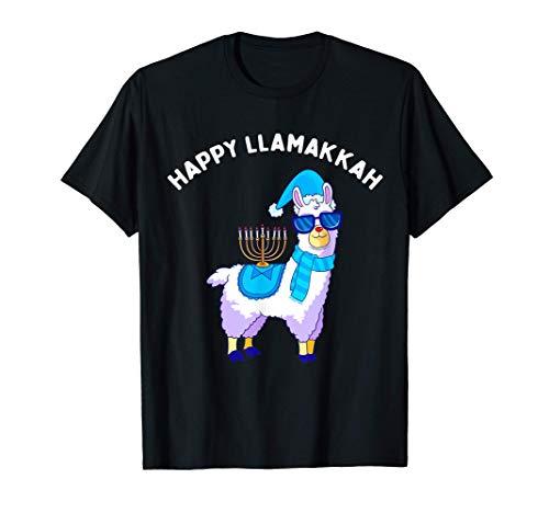 Happy Llamakkah Hanukkah Llama Chanukah Alpaca Women Gift T-Shirt