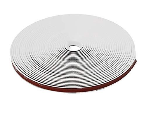 8mm x 8m - WEIß/WEISS Felgenrand Alufelgenschutz Selbstklebende Protektor-Band Kunststoff-Schutzstreifen Schutz Streifen Kunststoff Aufkleber Profil zum Schutz der Felge - sarachen - INION®