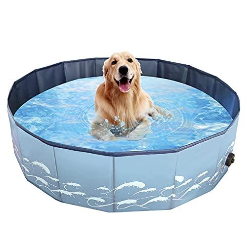 LTE Piscina Plegable Piscina PVC Bañera de Mascotas Cuenca Plegable para Perros Gatos Casa de Perrito Piscina Pool Plato Piscina Gatito Ducha Piscina