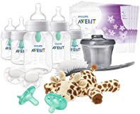 Philips Avent Anti-Colic Baby Bottle with AirFree Vent Essentials Gift Set, SCD308/02, White