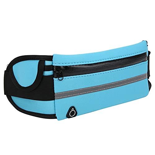 SONK Bolsa Deportiva, Paquete de Cintura de Tela de Buceo, absorción de Impactos Transpirable para Ciclismo para Gimnasio(Blue)