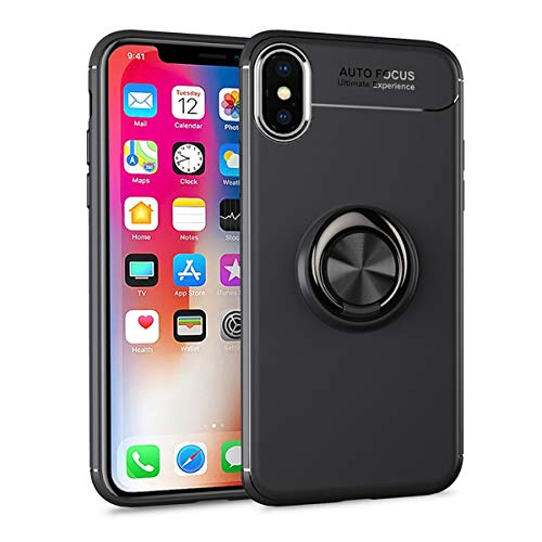 Cornmi Stand Case Compatible with iPhone X Case Compatible with iPhone X Case, 360 Degrees Rotation with Ring Grip Holder Soft TPU Phone Cover Compatible with iPhone X Case 5.2 inch