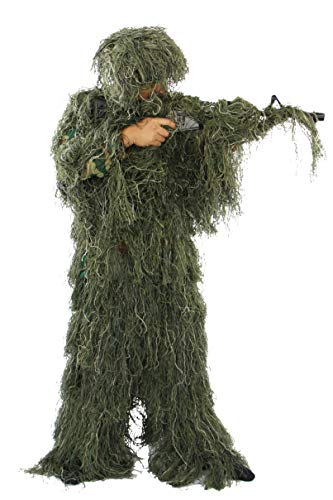 Sutekus Ghillie Suit 3D Camouflage Tactical Hunting Forest Woodland Apparel