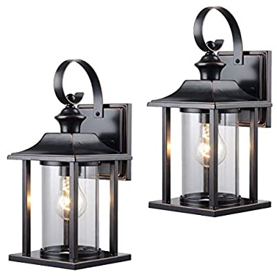 Hardware House 230582 & 230414 13-1/4-by-6-Inch Aluminum Outdoor Light Fixtures - Twin Pack