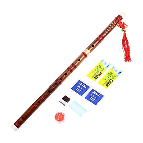 MILISTEN Flauta de Bambú para Principiantes Estilo Chino Flauta de Bambú Instrumento Musical Chino Vintage Dizi para Estudiantes Principiantes