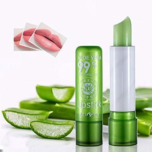 Set 2 Lipstick pintalabios mágico 99% Aloe Vera. Barras de labios hidratante duradero. Cambia de color con la temperatura 2unidades