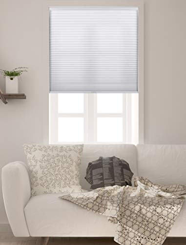 Arlo Blinds Single Cell Light Filtering Cordless Cellular Shades, Color: Pure White, Size: 32' W x 60' H