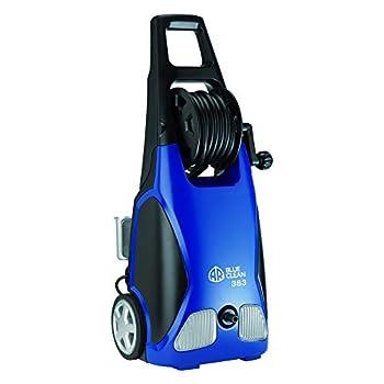 AR Annovi Reverberi Blue Clean AR383 1,900 PSI Electric Pressure Washer Nozzles Spray Gun Wand Detergent Bottle & Hose