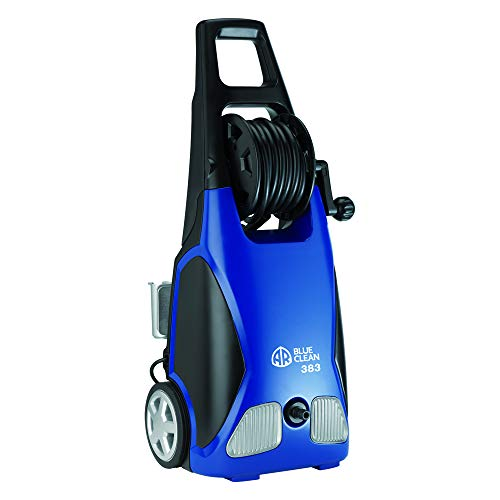 AR Annovi Reverberi Blue Clean, AR383 1,900 PSI Electric Pressure Washer, Nozzles, Spray Gun, Wand, Detergent Bottle & Hose