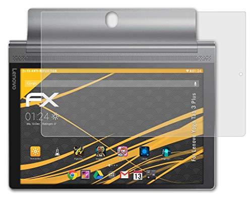 atFolix Panzerfolie kompatibel mit Lenovo Yoga Tab 3 Plus Schutzfolie, entspiegelnde & stoßdämpfende FX Folie (2X)
