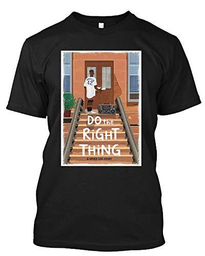 Do The Right Thing A Spike Lee Affiche de film commune Ennemi public Hip Hop Rap T-shirt cadeau pour homme femme - Noir - XXXX-Large