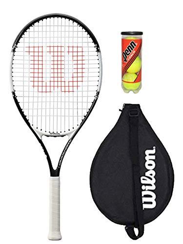 Wilson Federer 26 - Raqueta de tenis con cubierta y 3 pelotas de tenis