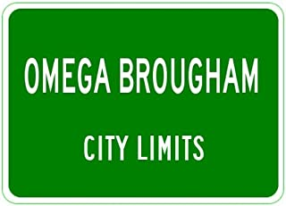 OLDSMOBILE OMEGA BROUGHAM Aluminum City Limit Sign - 12 x 18 Inches
