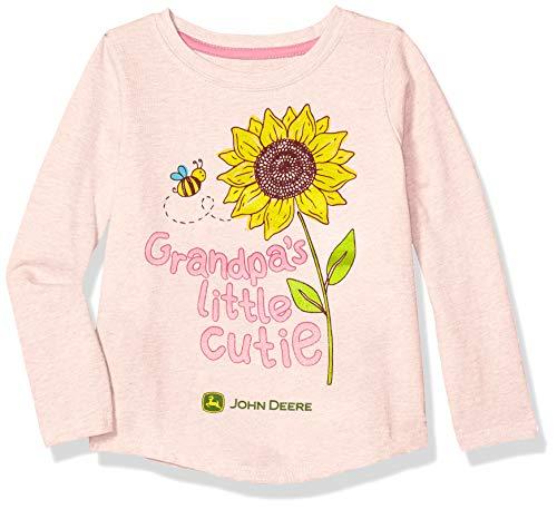 John Deere Girls' T-Shirt, Pink Heather, 2T