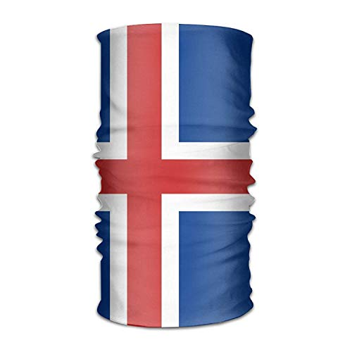 jingqi Flag of Iceland Headwear Bandanas Seamless Headscarf Outdoor Sport Headdress Running Riding Skiing Hiking Headbands