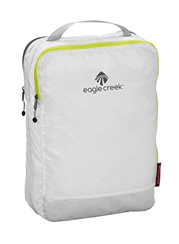 Eagle Creek Ultra-Light packing solution Pack-It Specter Clean Dirty Cube Organizer for Suitcases per valigie, 35 cm, 14 liters, Bianco (White/Strobe)