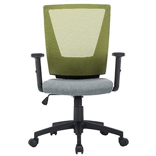 WSDSX Schlafzimmer Home Office Schreibtischstuhl Mesh-Sitz Kippfunktion Hubhöhe 45-53 cm Aufgabe Computerstuhl Lagergewicht 120 kg