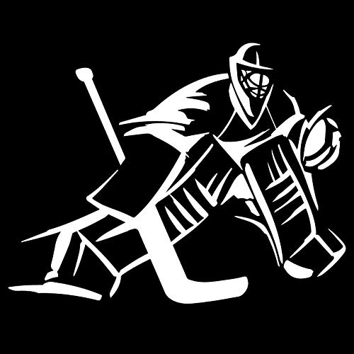 ZXiaoBai Autoaufkleber lustig Torwart Eishockeyspieler Autoaufkleber Persönlichkeit Aufkleber Laptop Motorrad Autozubehör Dekoration PVC 18cmx14cm-Weiß