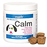 waggedy Calming Chews for Dogs, Tasty Treats Provide Stress & Anxiety Relief for Dogs During Separation, Travel & Times of Fear – Cat Calming Treats   Dog Treats