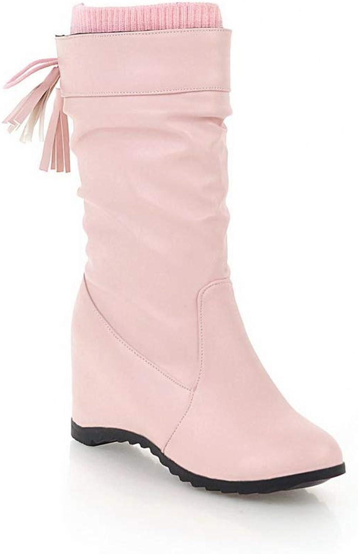 AN Womens Heighten Inside Tassels Urethane Boots DKU02068