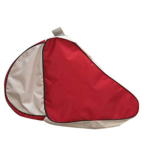 LINVINC Mochila para Patines Unisex - Patines de Hielo Portátil Skate Bag Bolsa Patines de 4 Ruedas Adulto Niños Rojo