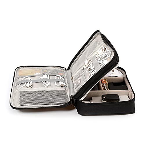 Bolsa de almacenamiento de equipaje Bolsa de organizador de cables Accesorios electrónicos de viaje Caja de transporte para cámara digital, USB, Cargador, caja de bolsas de almacenamiento de banco de