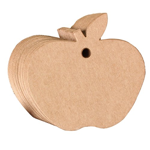 10 Stks Apple Vorm Papier Hang Tags Bruiloft Gift Label Kaarten Favor Diy 6 * 6Cm Mini Prijs