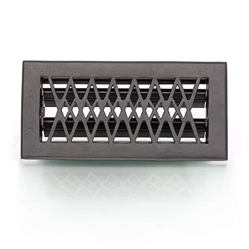 Antikas - Lüftungsgitter für Ofen, Luftgitter regulierbar, Kamingitter, in schwarz