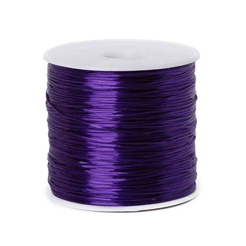 Cable de Abalorios 50 M/Roll DIY Cristal CORDADOR DE CORDADOR DE Abajo para JOYERÍA Fabricación de 0,7mm Hilo elástico Cuerda DIY Pulsera de Bricolaje Accesorios
