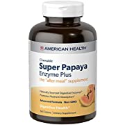 American Health Super Papaya Enzyme Plus Chewable Tablets, Natural Papaya Flavor - Promotes Digestion & Nutrient Absorption, Contains Papain & Other Enzymes - 360 Count, 120 Total Servings