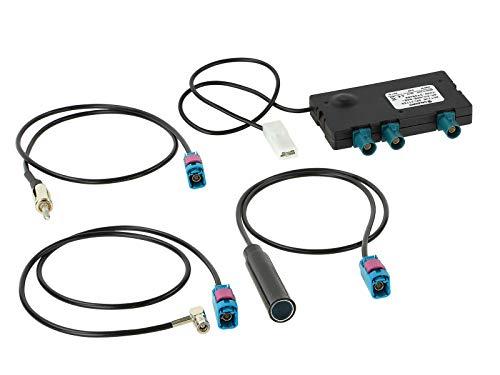 Splitter Attivo Antenna Radio AM FM/DAB, DAB + incl. Adattatore