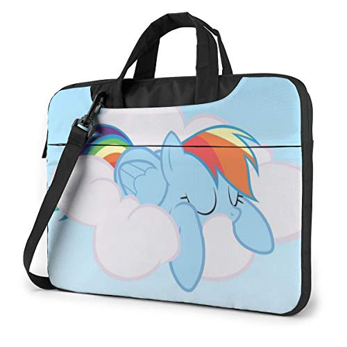 My Little Pony Laptop Sleeve Case Protective One Shoulder Shockproof Handheld Case/Notebook Computer Pocket Case/Tablet Briefcase Carrying Bag Compatible/Soft Carrying Zipper Bag-15.6 inch
