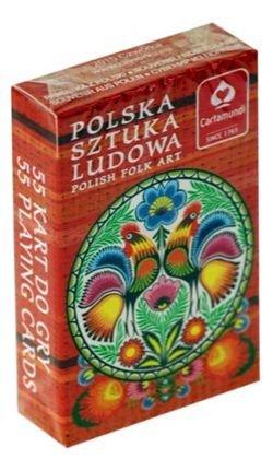 Polaco Folk Art Roosters Juego de cartas–solo cubierta