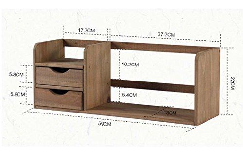 Simple multi-couche solide support de stockage de tiroir de bureau de bibliothèque en bois avec un petit bijou mis plus de viande ( Couleur : Marron , style : A )