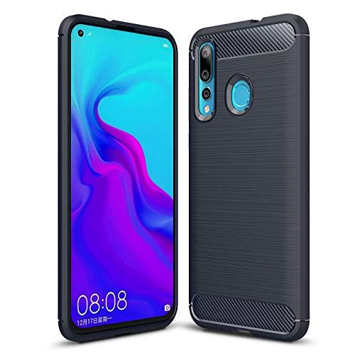 """Grandcaser Capa para Huawei Nova 4 Ultra Fina Fibra Carbono Suave TPU à Prova Choque Anti-arranhões Capa Proteção para Huawei Nova 4 6.4"""" -Azul"""