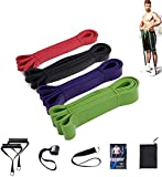 HTZ Pull Up Assist Bands Set for,Fitness Equipment Heavy Duty Resistance Stretch Band, Contain Suspension Device, Rubber, for Body Fitness Training