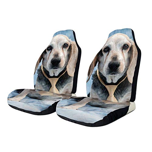 Tridge Autositzbezüge, niedlicher Beagle Universal Fit Full Set Auto Drive Autositzbezüge Protector für LKW SUV Fahrzeugzubehör