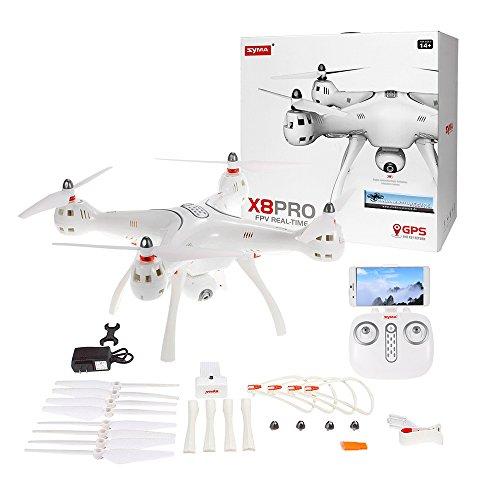 SYMA X8 Pro GPS Drohne Drone Quadrocopter weiß 2.4 GHz 720p HD-Kamera