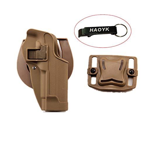 haoYK Taktische Airsoft Pistole Concealment Ziehen Rechtshänder Paddle Gürtel Holster Pouch für M9 M92 (DE)
