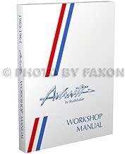 1963-1964 Studebaker Avanti Repair Shop Manual Reprint
