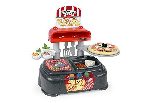 Chicos - Pequeño Chef Pizzeria de Juguete con 37 Accesorios Incluidos, a Partir de 3 Años, Medidas - 50 x 32 x 40 cm (Fábrica de Juguetes 83006)