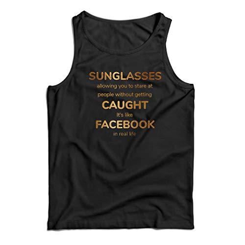 lepni.me Weste Lustiges Facebook-Angebot für Social Media im wirklichen Leben (Medium Schwarz Mehrfarben)