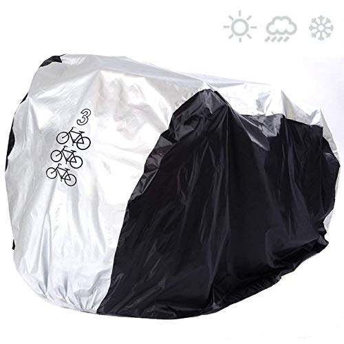 SACONELL Bike Cover for 3 Bikes All Weather Waterproof Bike Cover Dust Resistant UV Protection