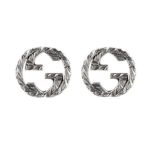 Gucci - Pendientes Interloking G Plata YBD45710900100U