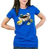 CottonCloud Sushi Dinner Camiseta para Mujer T-Shirt Dinner Japonesa Japon, Talla:L