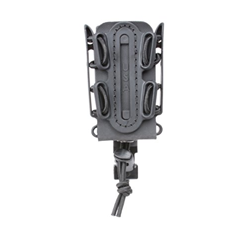 G-CODE (Black) Soft Shell Scorpion -Short- Pistol Mag Carrier with P1 molle/Stacking Clip 100% Made in The USA