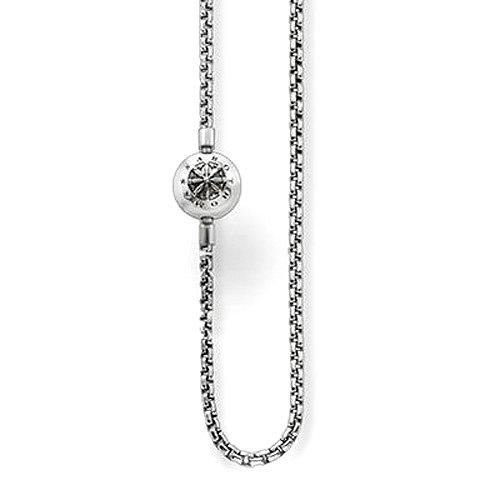 THOMAS SABO Unisex-Kette ohne Anhänger Halskette für Beads Oxidiertes Silber 45 cm - KK0002-001-12-L45