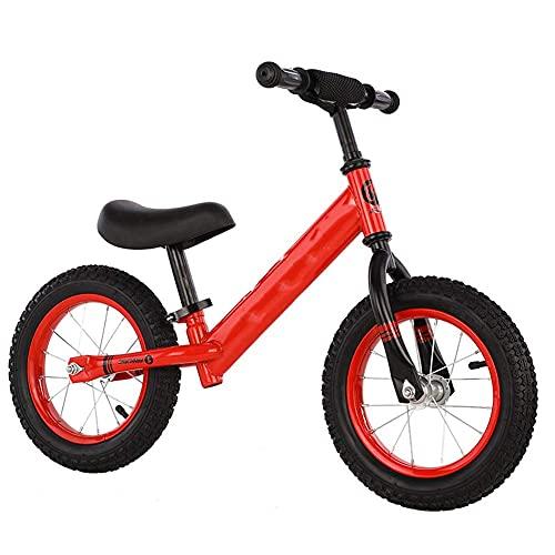 XYXZ Plataforma De Bicicleta Scooter De Equilibrio para Niños con Pedal Plano Sin Pedal Bicicleta Scooter Dos En Uno Scooter para Bebés 1 Año 2 Años Niño 3 Años, Rojo