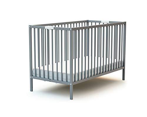 Lit bébé pliant 60x120 WEBABY Gris
