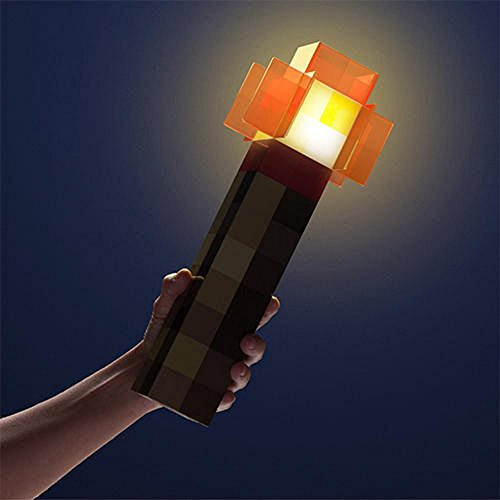 ThinkGeek Minecraft Redstone Torch Fackel Wandleuchte Lampe 30 cm